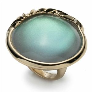 Swarovski Crystal Clear Green Opalescent Ring